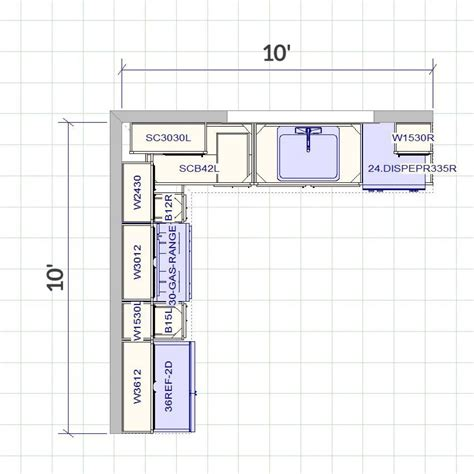 Kitchen Floorplan by Lesscare Richmond 10x10 Kitchen Cabinets Sale