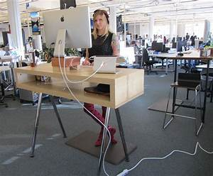 Simple adjustable standing desk - jessica's blog