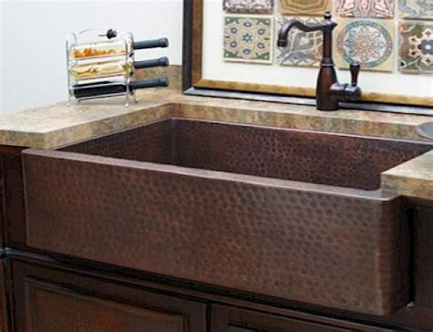 copper apron kitchen sink sinks inside effects 5782
