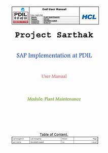 Sap Plant Maintenance User Manual