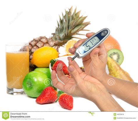 glucose cuisine diabetes concept with syringe injector and insulin