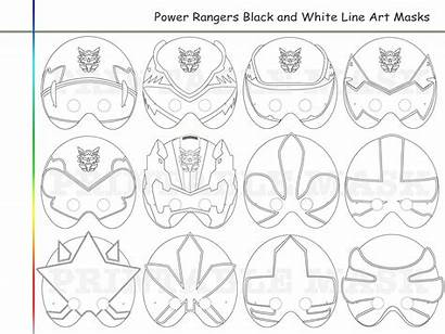 Coloring Rangers Printable Pages Mask Masks Party