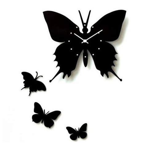 acrylic wall clock stencil laser cut acrylic butterfly