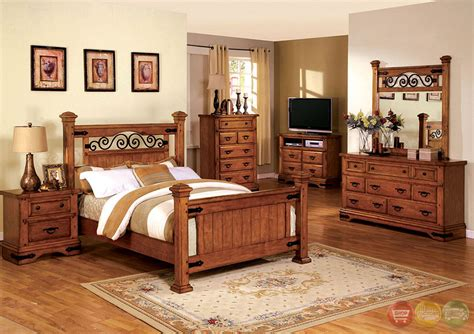 sonoma country american oak poster bedroom set rod