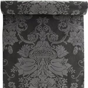 Papier Peint Baroque Gris Et Noir by Papier Peint 100 Intiss 233 Baroque Paillette Noir Leroy
