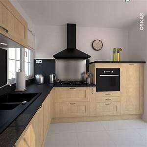 1000 idees sur le theme cuisine noire et bois sur for Idee deco cuisine avec meuble cuisine noir et bois