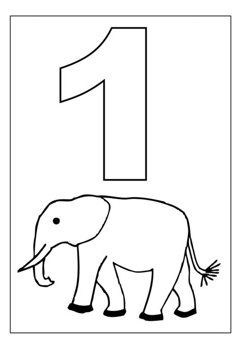 Coloring Number Pages free printable number coloring pages for