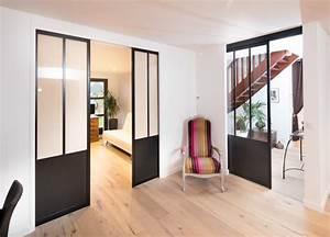 portes coulissantes style atelier sur mesure With mettre des portes coulissantes