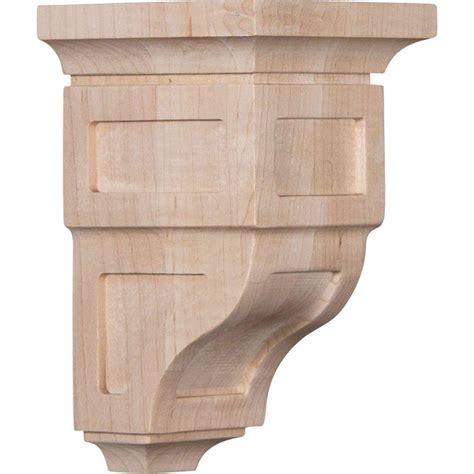 Wood Corbels by Ekena Millwork 3 1 2 In X 6 In X 3 3 4 In Alder Mini