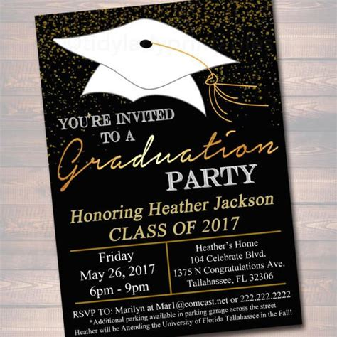 EDITABLE Graduation Party Invitation High School