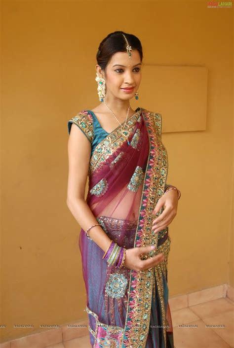dressing below navel saree dikshaa transparent half saree navel show