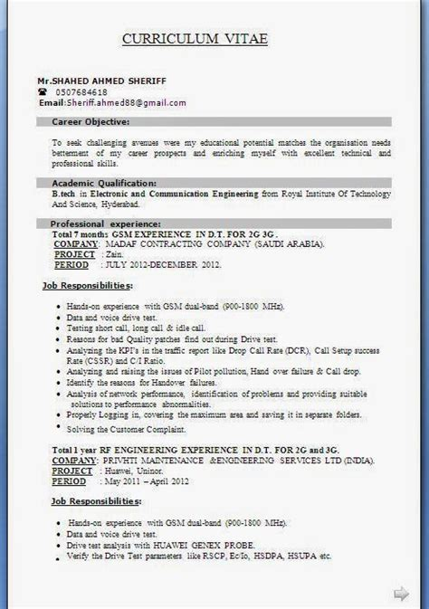 Electronic Tech Resumes by Electronics Technician Cv Sle