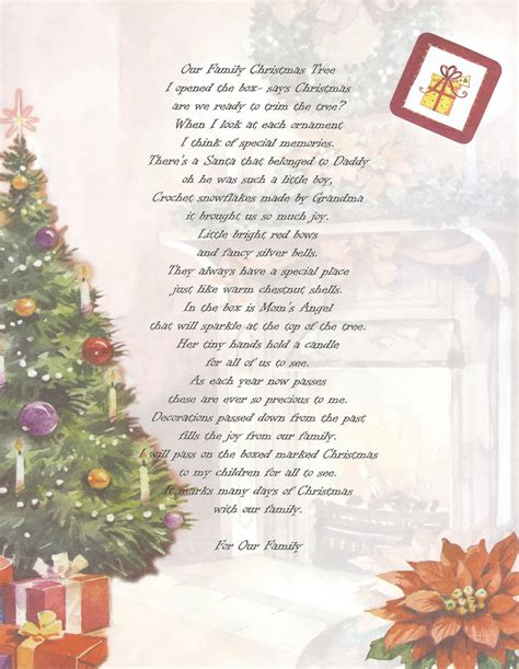 Family Christmas Card Poems