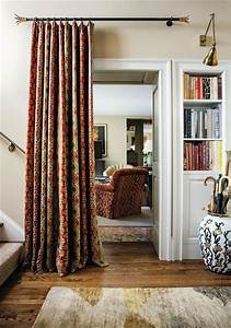 portiere curtain across open doorway diy tips With fabric doorway curtains