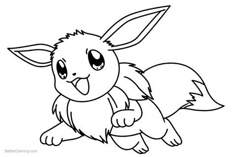 eevee coloring pages jumping  printable coloring pages