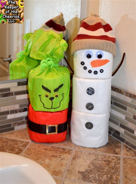 toilet paper snowman craft  keeper   cheerios