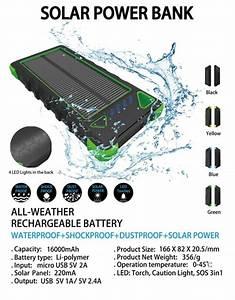 Powerbank 12000mah Solar Charger 3 7v Power Bank Mobile