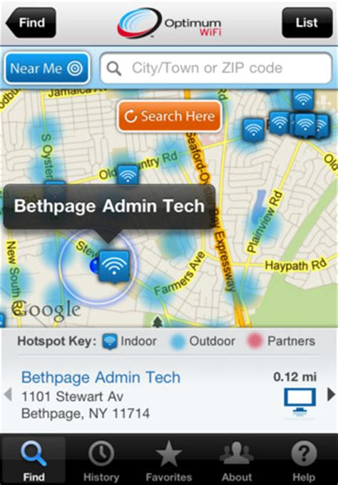 optimum wifi hotspot finder app for iphone