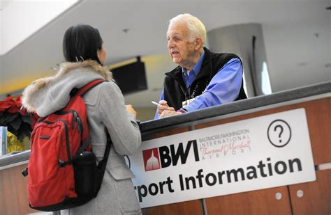 bwi airport information desk pathfinders aid bwi passengers during busy holiday season