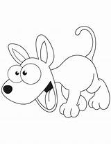 Coloring Cartoon Dog Pages Puppy Excited Poodle Printable Dogs Popular Getcoloringpages sketch template