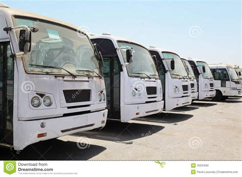 row  buses waiting  bus station  port editorial photography image