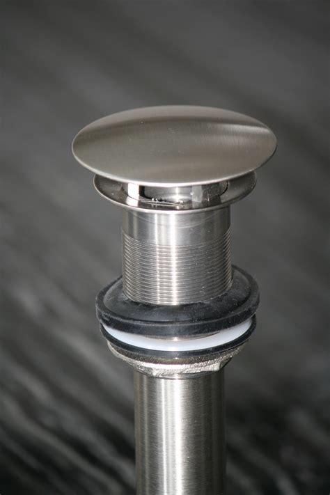 fix dome ultra modern vessel sink drain stainless steel