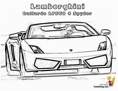 Lamborghini Gallardo Coloring Drawings Cars Spyder Lp560
