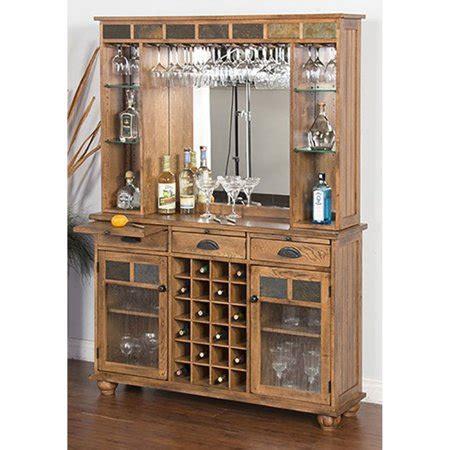 Back Bar Furniture by Designs Sedona Server And Back Bar Walmart