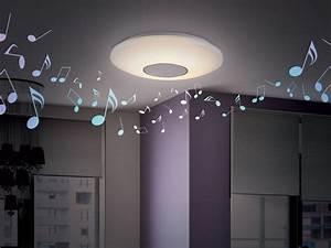 Lampe Mit Lautsprecher : led deckenleuchte mit bluetooth lautsprecher inspirierendes design f r wohnm bel ~ Eleganceandgraceweddings.com Haus und Dekorationen