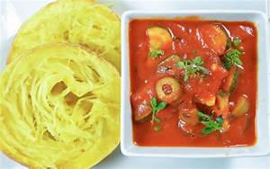 Spaghetti Mit Kürbis : gegrillter spaghetti k rbis mit letscho veganblatt ~ Lizthompson.info Haus und Dekorationen