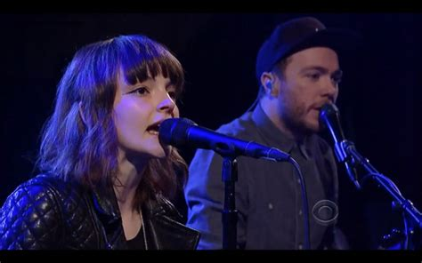 chvrches we sink live chvrches perform quot we sink quot on late show with david