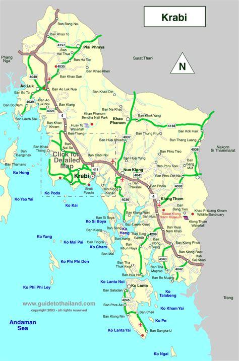 map  krabi thailand travel map thailand