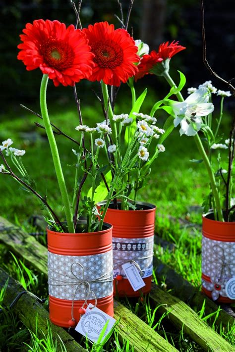 craft room table ideas 20 tin can craft ideas flower vases and plant pots