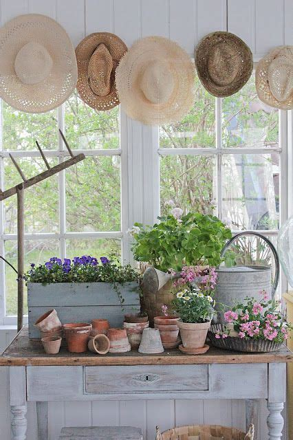 potting area   enclosed porch sunroom decorating
