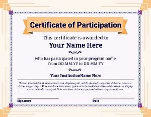 certificate of participation in sports wwwpixsharkcom With certificate of participation template pdf