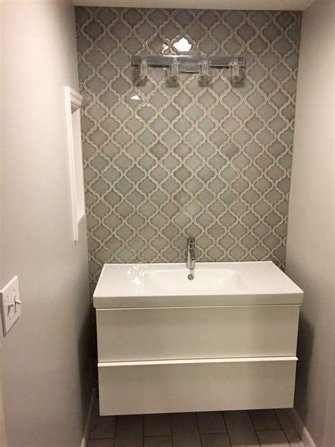 Home Depot Bathroom Tile Designs by Home Depot Dove Gray Arabesque Tile Bathroom Wall