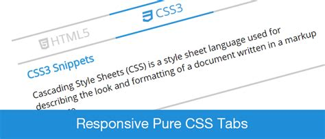 How To Create Responsive Pure Css Tabs