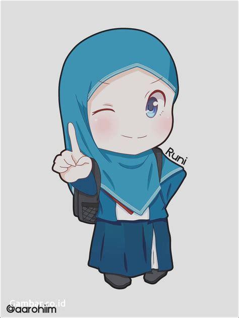 gambar anime muslim hitam putih gambar lucu kartun berjilbab kantor meme