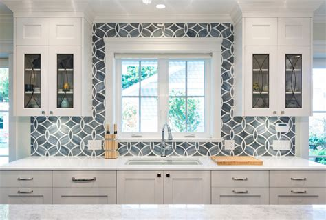 white kitchen with blue backsplash white grey blue backsplash 1832
