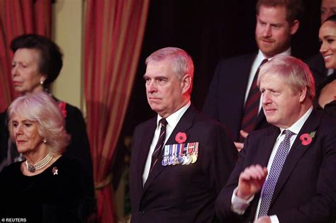 Boris Johnson is seated next to Prince Andrew at ...