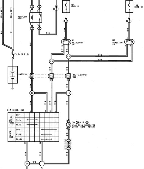 Need Wiring Diagram For The Headlight Circuit