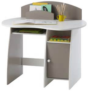 kid s desk in white grey vertbaudet