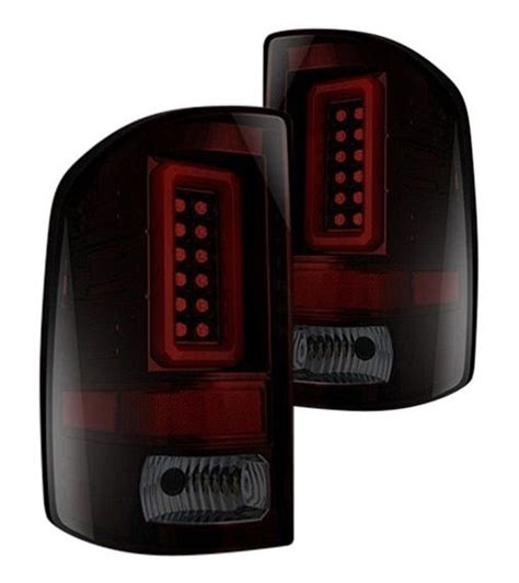 2016 gmc sierra tail lights recon smoked red led tail lights for 2014 2016 gmc sierra