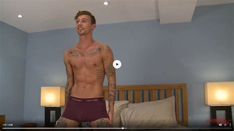 Six Foot Young Ripped Muscle Hunk Barclay Graham Has A Lovely Long Uncut Cock Which He Jerks To