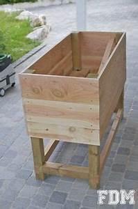 Geotextile Pour Carré Potager : potager bois non trait meubles en bois de palette potager potager bois et jardins ~ Melissatoandfro.com Idées de Décoration