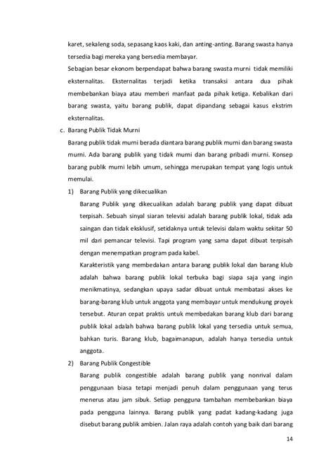 Barang publik DIV STAN Kelas 8B BPKP 2013/2014