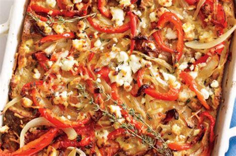 bell pepper and goat cheese strata recipe stuffed