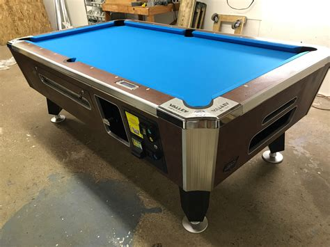 coin op pool table sold 7 foot bar pool tables used coin operated bar pool