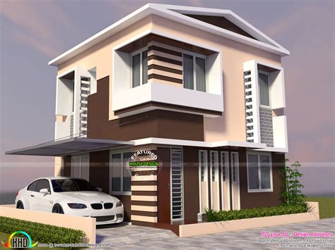 5 Cent Home Designs : Two Storied Modern House In Small Plot