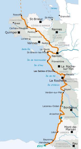 Carte De Plage Atlantique by Info Cote Atlantique Carte Voyages Cartes